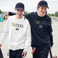 ingrosso logo multicolore-18SS KITH Multicolore Felpa con logo stampato Casual Street Skateboard Lusso Uomo Donna Semplice Casual con cappuccio Pullover Maglione HFYMWY015