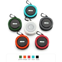 Wholesale mini suction cup speaker for sale - Group buy C6 Speaker Bluetooth Speaker Wireless Potable Audio Player Waterproof Speaker Hook And Suction Cup Stereo Music Player With Retail Package