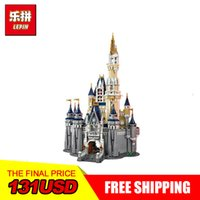 Wholesale gift set toys - LEPIN 16008 Cinderella Princess Castle City set 4080pcs Model Building Block Kid DIY Toy Funny Birthday Gift Compatible 71040