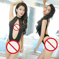Free Shipping New sexy lingerie cosplay European and American fun lingerie gray and black cross-piece perspective bikini suit hanging