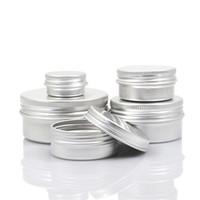 aluminium kosmetikbox großhandel-Aluminium Creme Box Metall Lippenbalsam Jar Kosmetik Subpackage Flaschen Neue Hohe Qualität 1 6ym6 C R