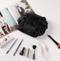 Wholesale travel kits online - vely vely lazy Cosmetic Bag Travel Pouch Drawstring Makeup Bag Women Travel Storage Toiletry Beauty Kit bag KKA5657