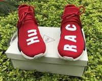 zapatos de deporte casual transpirable al por mayor-Zapatos de la raza humana. Zapatillas de deporte ligeras respirables para hombre de las zapatillas de deporte de la moda para hombre, zapato de funcionamiento ocasional del paquete de Hu Solar, rastro Holi