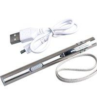 stylo usb achat en gros de-Creative USB pratique pour transporter Mini torches électriques rechargeables Éclairage extérieur EDC outil stylo Modèle forte lumière lampes de poche 10zk