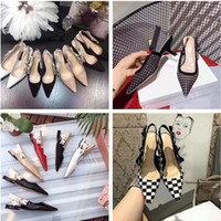 Wholesale pink kitten heels - Sexy Women High-heeled Shoes Black Mesh Pointed Toe Pumps 9 Colors Ladies Summer Gladiator Sandals Rhinestones Dress Wedding Shoes