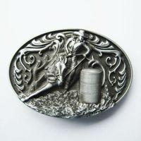 rodeo gürtel großhandel-New Vintage Oval Cowgirl Rodeo Rennen Western Gürtelschnalle Gürtelschnalle Boucle de ceinture BUCKLE-WT104AS