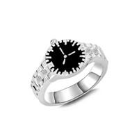 пасхальные часы оптовых-Бесплатная доставка 2018 новая мода Европейский и американский ретро кольцо взорвался творческие часы кольца на складе