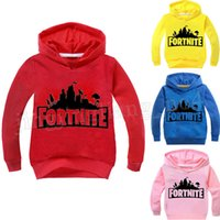 Wholesale kids character sweatshirts - 19 Colors Kids Fortnite Casual Sweatshirt Baby boy Cotton Spring Fall Hoodies Pullover Long Sleeve Blouse Fortnite Sweatshirts 30pcs MMA188