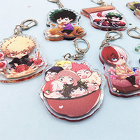 Wholesale Fashion Lovely Cartoon Anime New Academia My Hero Academi Keychain Acrylic Key Ring Charms Gift