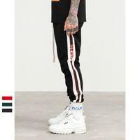 Wholesale stripe clothes for sale - 2018 street new hip hop explosion fashion urban clothing retro college side stripes men s jogger casual trend Sweatpants