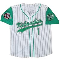 Wholesale sew embroidery patches - Men's Jarius G-Baby Evans 1 Kekambas Baseball Jersey Includes Patch Stitched Sewn-Green Hardball Includes ARCHA Patch Embroidery Jerseys