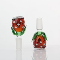 Wholesale hookah pipes for sale resale online - New Colorful Pyrex Glass Flower Shape Smoking Pipe Accessories Innovative Design Portable For Bong Hookah Shisha High Quality Hot Sale
