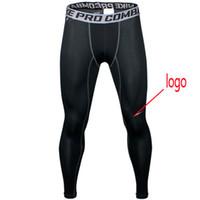 Wholesale tight lycra legging online - Fashion men NK pro combat Athletic skinny compression Basketball training legging run gym track sport tight pants fitness