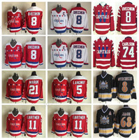 e814a3cc0ac 8 Alex Ovechkin Jerseys 5 Rod Langway 11 Mike Gartner 21 Dennis Maruk Ice Hockey  Washington Capitals Jerseys Retro 74 John Carlson