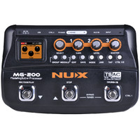 NUX MG-200 Guitar Processor Multi guitar effect pedal 55 Effects 70 Seconds Recording Guitar Looper drum machine free shipping
