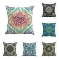 Wholesale woven bedding online - Mandala Bohemia Printing Fashion Pillow Case Flax Material Simple Design Pillowcase Home Bed Decoration Cushion High Quality nya Z
