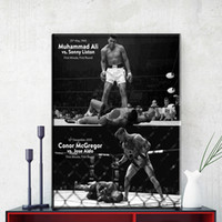 Wholesale motivational wall - ZZ1150 CONOR McGREGOR Muhammad Ali Motivational canvas posters and prints art sports pictures oil art painting for home wall