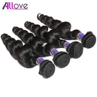 Wholesale ship human hair extensions resale online - Best A Brazilian Peruvian Indian Hair Wefts Bundles Unprocessed Malaysian Loose Wave Human Hair Extension