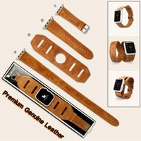 Wholesale-2016 Vintage echtes Lederarmband Armband 3in1 Single / Double Tour Armband für Apple Watch Band iWatch Sport 38mm 42mm