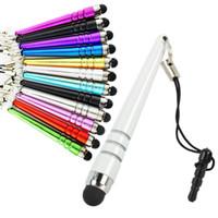 stylus pen оптовых-Mini Stylus Pen Бейсбольная ручка с функцией защиты от пыли Для ipad iphone 6 7 8 Samsung Android планшетный телефон