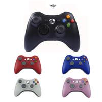 microsoft pc game controller toptan satış-2.4G Microsoft Xbox 360 Gamepad Ile Kablosuz Denetleyici PC Kablosuz Alıcı Ile Xbox 360 Oyun Joystick Için Uzaktan Controle