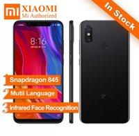 Wholesale original smartphones - Original New Xiaomi MI 8 Mi8 6GB RAM 128GB ROM Snapdragon 845 6.21 inch 2248x1080 20MP Smartphones