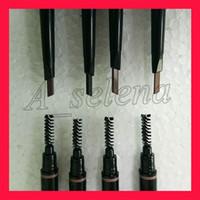 бровь горячая оптовых-Горячий новый макияж двойной карандаш для бровей бровей карандаш черное дерево / темно-коричневый / средний коричневый / шоколад бесплатная доставка