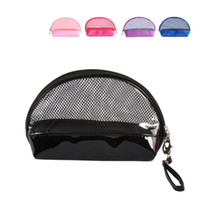Wholesale high quality clothes bag resale online - Colour Fashion Storage Bag Makeup Semicircle Cosmetic Bags Receive Wash Multi Function Bundle Pocke Gift High Quality Pvc rz jj