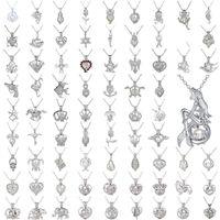 ingrosso hollow locket pendant-Collana con ciondolo a gabbia di perle Collana con ciondolo a catena a forma di clavicola con ciondolo a forma di cuore
