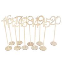 ingrosso tavole fatte a mano in legno-Handmade Wood Chips Seat Card Matrimonio Artigianato Feste per feste Prop con tavolo Numero Arti Funzioni multiple Decorazione 30am jj