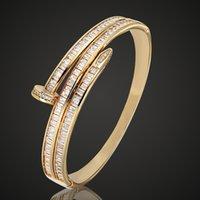 acessórios clássicos zircônia cúbica venda por atacado-Zlxgirl marca tamanho mulheres cúbicos de zircão cúbico pulseira de jóias clássico pulseira zirconia bangles nupcial acessórios do amor das mulheres