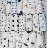 Wholesale wholesale aden anais - 120*120CM Aden Anais Swaddles Muslin Baby Blankets Ins Bath Towels Blankets Wraps Newborn Cotton Swadding Muslin Baby Blankets KKA4210