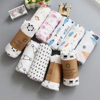 Wholesale newborn baths - Muslin Baby Blankets Aden Anais Swaddles baby Ins Bath Towels Troller Blankets Wraps Newborn Swadding Wrap 33 design 120*120cm KKA4210