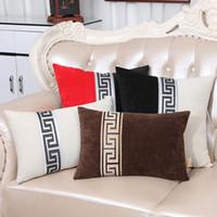 cadeira de escritório travesseiro de volta venda por atacado-Mais recente de Luxo Patchwork Capa de Almofada de Veludo Sofá Cadeira Lombar Travesseiro Home Office Caso Almofadas Decorativas de Volta High End Capas de Almofadas