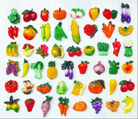 Wholesale fruit magnets for sale - Group buy Fruit Vegetable fridge magnet creative cartoon refrigerator magnets stickers Office photo boardsholder stickers strong magnet Home Deco