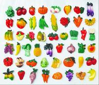 frutas ímãs venda por atacado-Fruta vegetal imã de geladeira criativo dos desenhos animados ímãs de geladeira adesivos escritório foto boardsholder adesivos forte ímã casa Deco