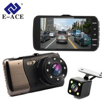 Wholesale Distance Sensor Cars - Car Dvr 4.0 Inch LDWS ADAS Camera FHD 1080P Night Vision Dual Lens With Car Distance Warning Dash Cam Auto Registrator