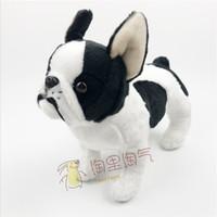 bulldog oyuncakları toptan satış-Çocuk Oyuncakları Hediyeler Gerçek Hayat Peluş Bulldog Bebek Mevcut Dolması Hayvan Sevimli Oyuncak Mağazaları Kaliteli