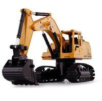 gros camions à jouets achat en gros de-Grand Télécommande De Charge Digger 5 Canal Sans Fil Excavation Construction Camion Dig Arms Mobile Enfants Jouets Éducatifs Cadeau