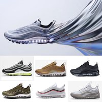 Wholesale Japan Shoes Sale - 2018 Top Fashion Classic 97 X Undefeated OG UNDFTD Triple Silver Bullet Metallic Gold Japan Grey Women Men Running shoes Sports Sneaker SALE