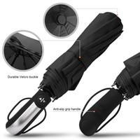 ingrosso grande piegatura ombrello-Ombrello automatico pieghevole resistente alla pioggia Ombrelli antivento grandi di lusso per auto Ombrello per rivestimento nero 10K