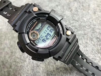 Wholesale water measure - AAA GWF F1000 men G Outdoor sports watches LED Autolight Temperature measure Waterproof Sailing 110 Quartz frogman watch with Box