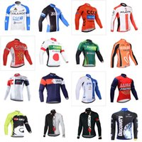 Wholesale Pro Choose - Bahrain BLANCO team Cycling long Sleeves jersey Pro Team Cycling Clothes for Autumn Spring A lot of styles for you to choose D1002