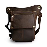 ingrosso borse per attrezzi vintage-Borsa a tracolla in vera pelle vintage da uomo in vera pelle Borsa a tracolla in vera pelle da donna
