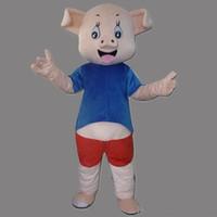 porco azul dos desenhos animados venda por atacado-Alta qualidade EVA Material Capacete Lindo azul porco Trajes Da Mascote Creiom Dos Desenhos Animados Vestuário festa de Aniversário Masquerade WS946