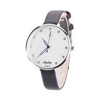 vogue watch bands venda por atacado-Relógios criativos relógio mulheres Pulseira de Couro Liga de Quartzo Analógico Vogue Relógios de Pulso Para Mulheres Reloj Mujer pulseira relógio