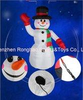 aufblasbare hände großhandel-8 Fuß riesige aufblasbare Hände herauf Schneemann-Yard-Ausgangsfeiertags-Weihnachtsplastikdekoration mit guter Qualität
