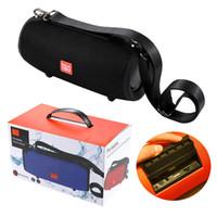 trommellautsprecher großhandel-TG125 Bluetooth Lautsprecher Drum CHARGE Protable Wireless Lautsprecher mit Haken Bügel Wasserdicht Big Super Bass Subwoofer HIFI Musik Player TF USB