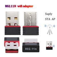 adaptador usb dongle wifi venda por atacado-Atacado MINI USB Bluetooth Adapter STA WIFI WLAN 150Mbps adaptador 802.11n Dongle sem fio Para Win10 acessório 7 WLan