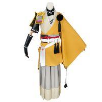 cosplay de touken ranbu venda por atacado-Cosplay Touken Ranbu Online Quimono De Poliéster Amarelo Traje Dos Homens Touken Ranbu Cosplay